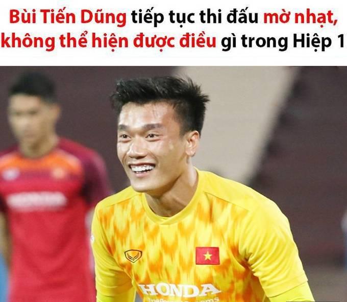 """<p> ĐT U23 Việt Nam chuẩn bị cho SEA Games 30 bằng trận giao hữu với U23 Myanmar vào tối 7/6 tại sân Việt Trì, Phú Thọ. Các chàng trai áo đỏ hầu như không cho đối thủ cơ hội phản công. Và người """"rảnh rỗi"""" nhất trên sân trong suốt hiệp 1 là thủ môn, đội trưởng Bùi Tiến Dũng. Các thánh chế lập tức réo tên anh vì """"không có gì để bắt"""".</p>"""