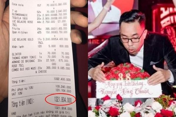 Nguyễn Hồng Thuận chi tiền tỷ đón sinh nhật.