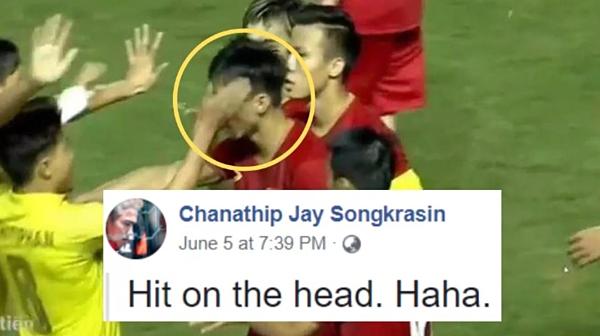 Phát ngôn gây sốc của tài khoản facebook có tên cầu thủ Thái Lan, Chanathip.