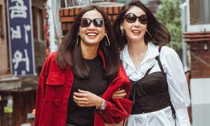 Hà Kiều Anh, Dương Mỹ Linh sành điệu trên đường phố Hàn
