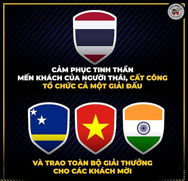Thái Lan bị chế ảnh sau trắng tay tại Kings Cup.