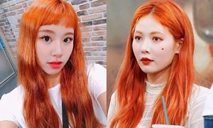 8 idol Hàn đọ sắc với màu tóc cam 'chói chang như nắng'