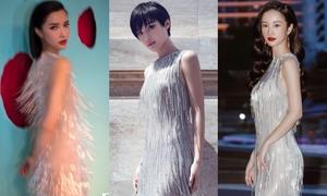 Bích Phương - Jun Vũ - Khánh Linh đụng váy ánh kim
