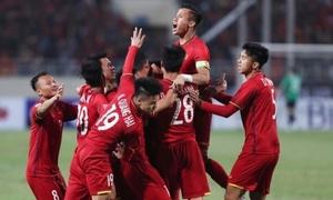 Việt Nam hơn Thái Lan 20 bậc trên BXH FIFA mới nhất