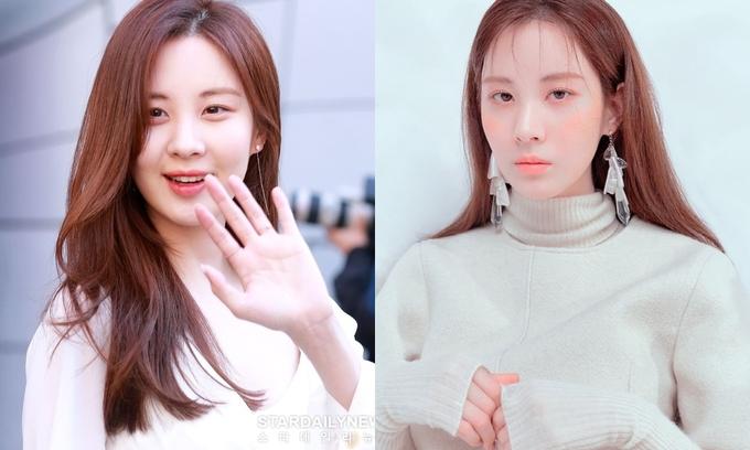 <p> Phần tóc mái mỏng manh khiến nữ thần Seohyun kém sắc vài phần. Có lẽ biết bản thân không hợp với kiểu mái baby nên thành viên SNSD luôn trung thành với style không mái.</p>