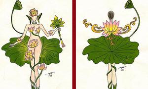 Thiết kế quốc phục bị chỉ trích vì như 'khỏa thân giữa hồ sen'