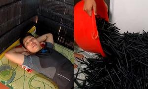 Youtuber khẳng định không sai khi dùng 5.000 ống hút nhựa làm nhà khổng lồ