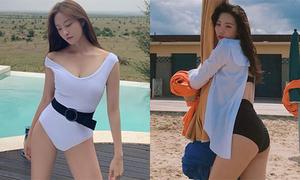 Sun Mi tăng 8 kg, tự tin đọ bikini với loạt mỹ nhân Hàn