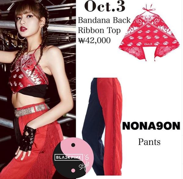 Phong cách của Black Pink được nhận xét là ngày càng Tây và đa dạng. Lisa cũng theo mốt quấn khăn thành áo và nhận được nhiều khen ngợi.