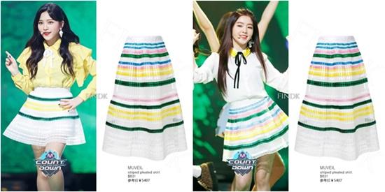 Giàu có như công ty SM cũng có cách tiết kiệm về khoản trang phục. Với cùng một chiếc váy dài, stylist cắt đôi và sửa thành 2 cái váy cho Yeri và Irene.
