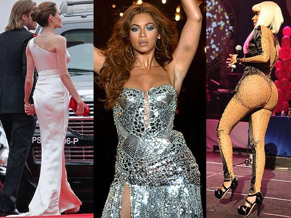 Vòng ba căng tròn là tiêu chí dáng đẹp của nhiều sao Âu Mỹ. Nếu số đo chưa được như mong muốn, họ sử dụng quần độn mông - món phụ kiện đặc biệt hợp với váy ôm sát. Tuy nhiên nếu sử dụng quần không vừa vặn hay váy áo có chất liệu quá mỏng, bí mật này rất dễ bị tiết lộ.