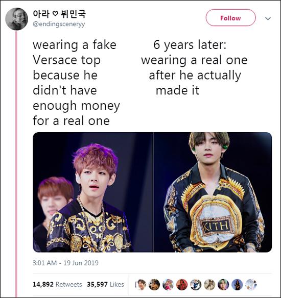 Mới đây, một bài đăng trên Twitter về sự thay đổi của V (BTS) hút sự chú ý từ netizen. Sau 6 năm, anh chàng đã làm r