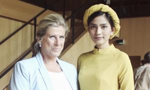 Trương Thị May hội ngộ công chúa Bỉ