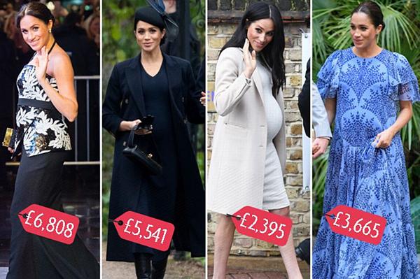 Công nương chi số tiền khổng lồ cho váy áo trong thời gian bầu bí.