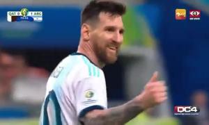 Cú đá 'một phát lên trời' của Messi bị chế giễu