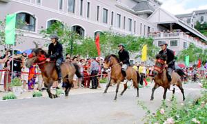 Giải đua ngựa lần đầu tổ chức trên đỉnh Fansipan