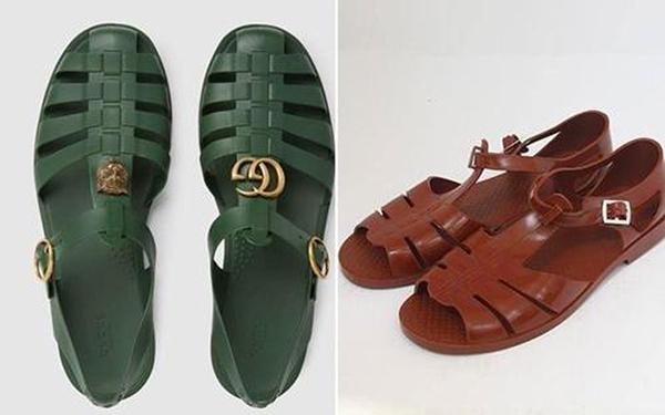 Thiết kế dép cao su 11 triệu đồng cũng bị so sánh với sandals bộ đội bán rộng rãi tại Việt Nam với giá ít hơn cả trăm lần.