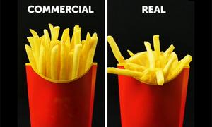 Nghệ thuật 'đánh lừa' trong các video quảng cáo đồ ăn