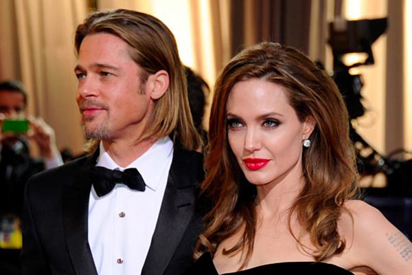 Brad Pitt và Angelina Jolie.