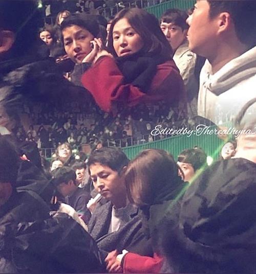 Sau đám cưới, cặp đôi Song - Song đến xem concert của IU.