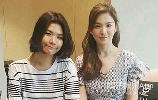 Stylist (ảnh trái) từng bị nghi là kẻ thứ ba, ngoại tình với Song Joong Ki.
