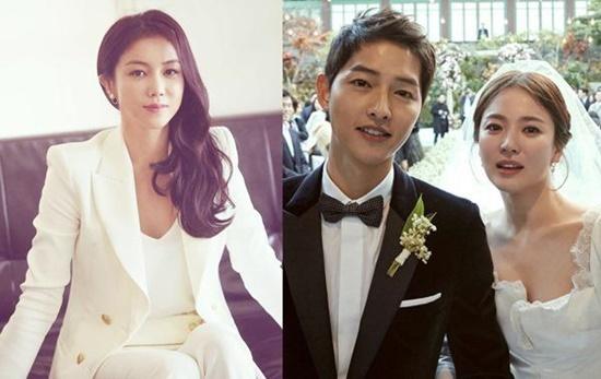 Nữ diễn viên Kim Ok Bin cũng bị nghi chen chân vào gia đình Song - Song.
