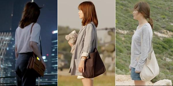 Thời điểm đó, Song Hye Kyo diện món đồ nào là món đồ đó lập tức vào tầm ngắm của các tín đồ thời trang. Cũng nhờ cô mà những chiếc túi vải tote thanh lịch hot trở lại.