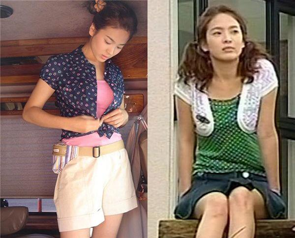 Nhắc đến Song Hye Kyo trong Ngôi nhà hạnh phúc là nhắc đến những trang phục đầy màu sắc, hoa hòe hoa sói nhí nhảnh. Kiểu áo khoác lửng người đẹp diện trong phim đình đám đến độ nhiều người còn gọi đây là áo Han Ji Eun (tên nhân vật của Song Hye Kyo trong phim) hoặc áo Full House.