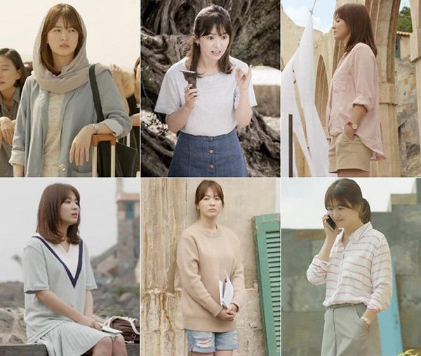 Phong cách ăn mặc của nữ diễn viên trong phim được đánh giá là đẹp mắt nhưng gần gũi, dễ học hỏi. Cô tạo ra những xu hướng diện đồ màu pastel tinh khôi, kết hợp sơ mi - quần shorts hay blazer rất thanh lịch.