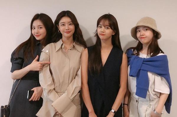 Các thành viên Girls Day tụ tập cổ vũ phim điện ảnh của chị cả So Jin.