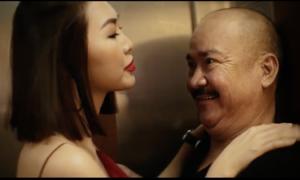 Tường Linh đóng cảnh nhạy cảm với Hoàng Sơn trong thang máy
