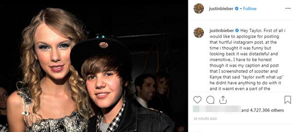 Justin Bieber đổ thêm dầu vào lửa với bài đăng trên Instagram cá nhân. Bức ảnh nhận được 4,7 triệu lượt like và hơn 155.000 bình luận sau vài giờ.