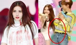 Somi gây tranh cãi vì hành động như 'vỗ mông' Hyun Jin