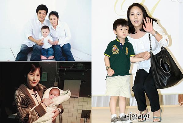 Hình ảnh Jeon Mi Seon bên chồng và con trai.