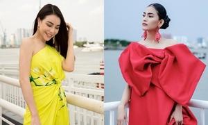 Trà Ngọc Hằng, Trương Thị May chưng diện đi xem thời trang
