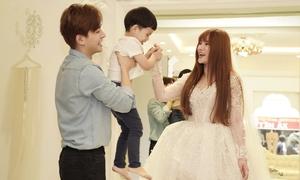 Thu Thủy thử váy cưới chuẩn bị làm cô dâu lần hai