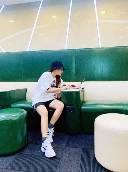 Bảo Thanh được fan khen đẹp trai khi diện đồ thể thao.