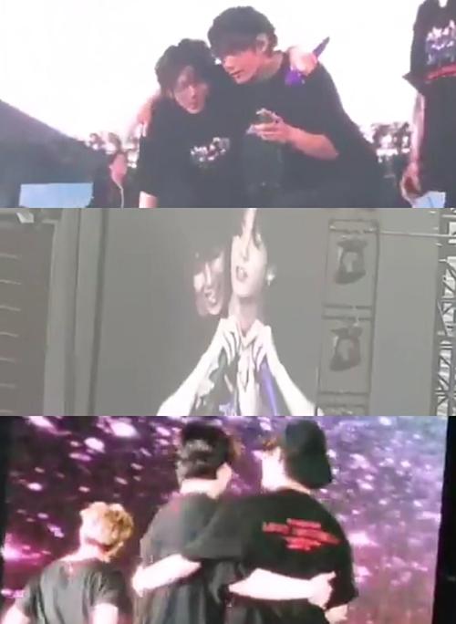 Trước đó trong concert ở Osaka, VKook cũng có những màn tương tác đáng yêu trên sân khấu.