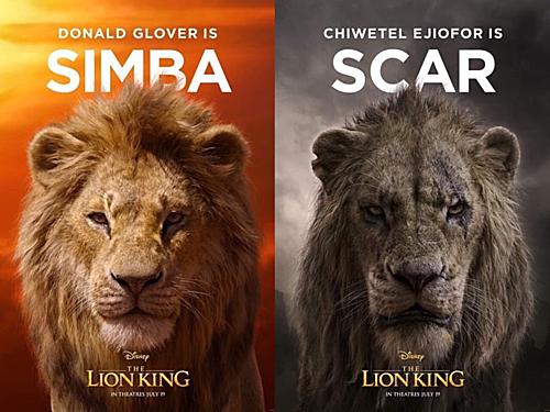 Tạo hình của Simba và người bác độc ác Scar.