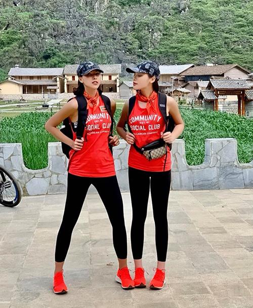 Kỳ Duyên khoe ảnh nhí nhảnh cùng Minh Triệu trong Cuộc đua kỳ thú 2019.