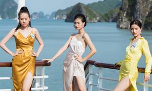 Thí sinh Miss World Việt Nam thả dáng trên du thuyền
