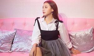 Amee, Suni Hạ Linh mặc xinh xắn đi sự kiện