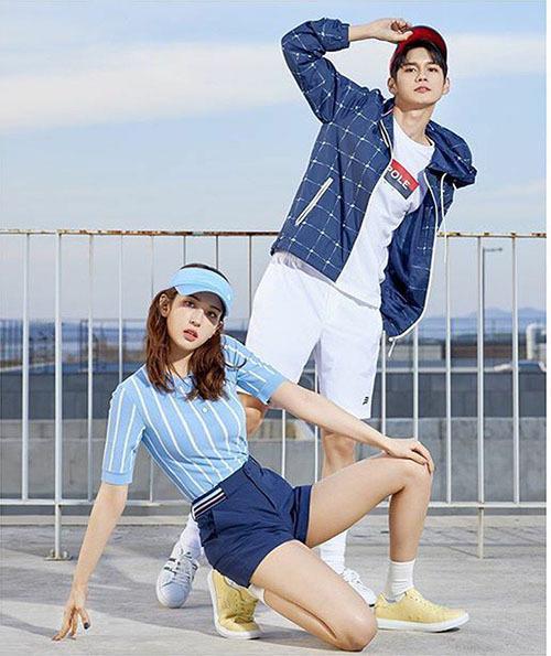 Hai visual của serie Produce 101 Somi và Ong Seong Woo kết hợp trong một chiến dịch quảng cáo đồ thể thao.
