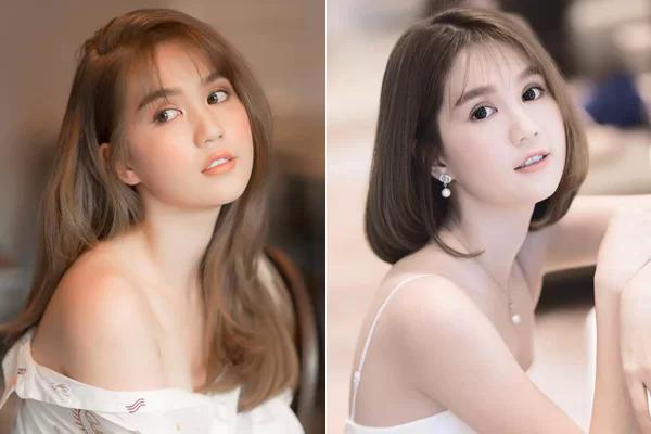 Trước đây, Ngọc Trinh nhiều lần bị chê quê khi cắt tóc ngắn. Nét đẹp kiểu trong sáng với bầu má đầy đặn của cô được cho là phù hợp với tóc dài hơn.