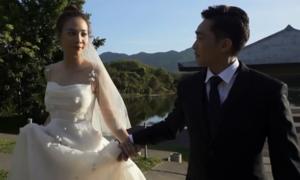 Cường Đô La tình tứ bên Đàm Thu Trang trong video cưới