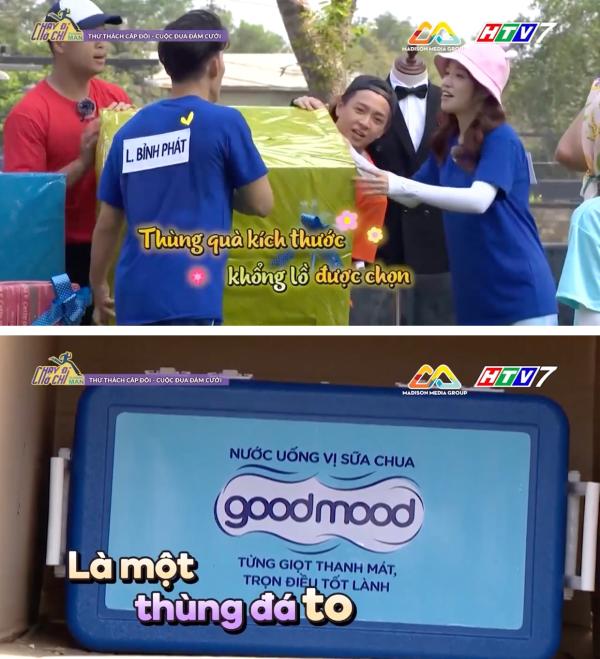 Thùng nước đá Good Mood từng xuất hiện trong phần thử thách cặp đôi đã khiến cả 7 thành viên và khách mời phải cười bò với cú lừa ngoạn mục.