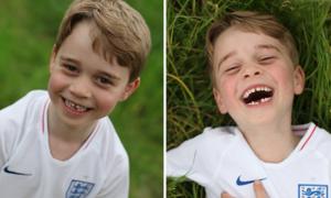 Hoàng tử George cười 'đốn tim' trong sinh nhật thứ 6