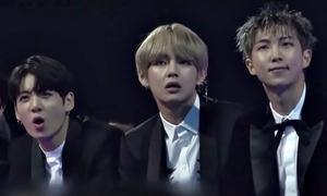 Phản ứng vừa đáng yêu vừa 'mặn mà' của BTS tại các lễ trao giải