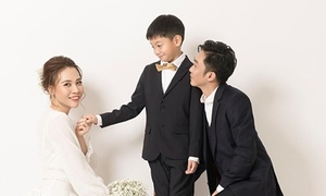 Cường Đô La chụp ảnh cưới cùng vợ mới và Subeo