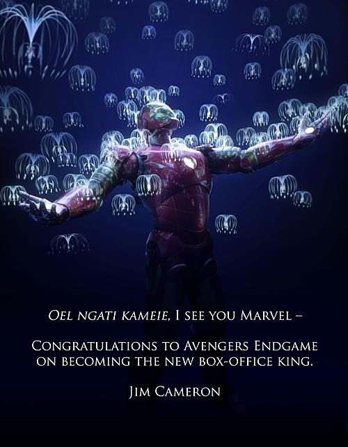 Cả hai lần Avengers: Endgame đánh bại kỷ lục của mình, James Cameron đều chu đáo gửi lời chúc mừng.